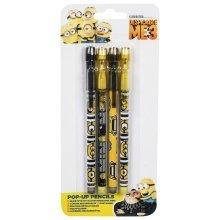 DESPICABLE ME 3 | Pop Up Pencils | 4 Pack