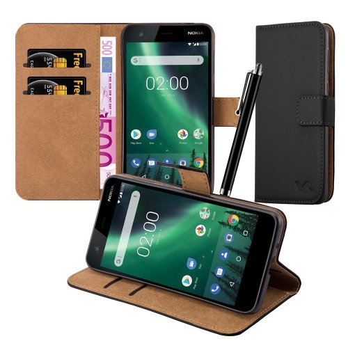 For Nokia 2 Premium Leather Wallet Case Cover