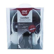 One For All Comfort Headphones With Pick-Up Microphone White