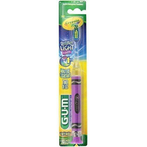 GUM Crayola Timer Light Toothbrush, 1 Each