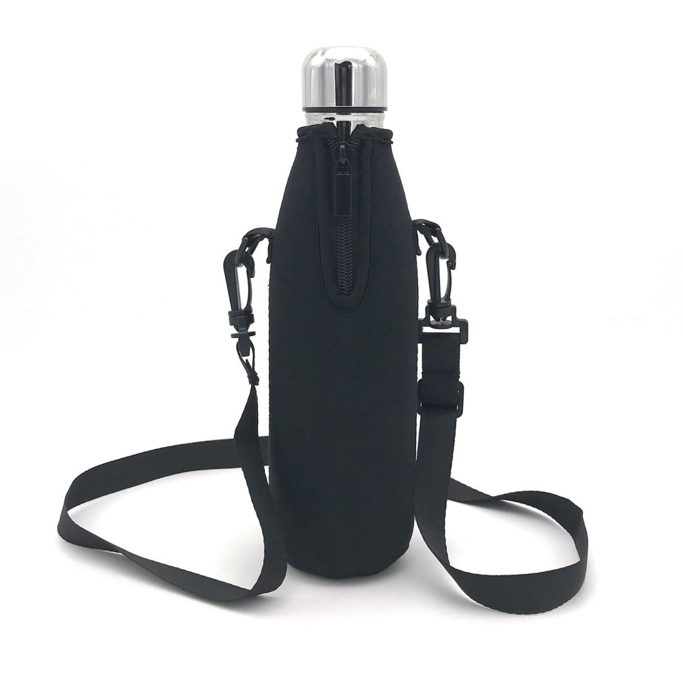 29fb9b5f0aa2 Wommty Neoprene 20Oz(480ml) Insulated Water Drink Bottle Cooler Bottle  Carrier Bottle Sleeve Tote Bag with Carrying Strap for Climbing Cycling  and...