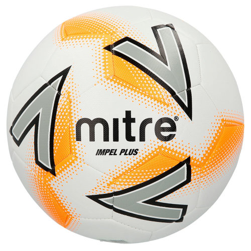 Mitre Impel Plus Football Soccer Match Training Ball White/Orange