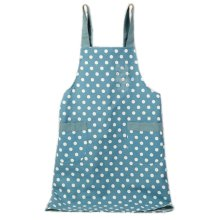Japanese Style Cotton & linen Simple Cloth with Pocket Unisex Cooking Aprons, Blue