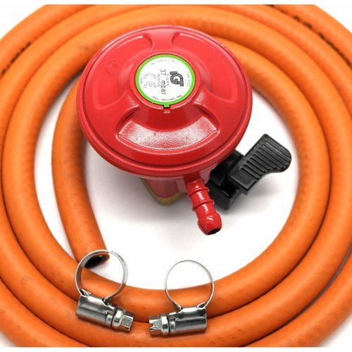 Other Igt Bbq/Patio Gas 27Mm Gas Regulator & 1 Metre Hose Kit 5 Year Warranty