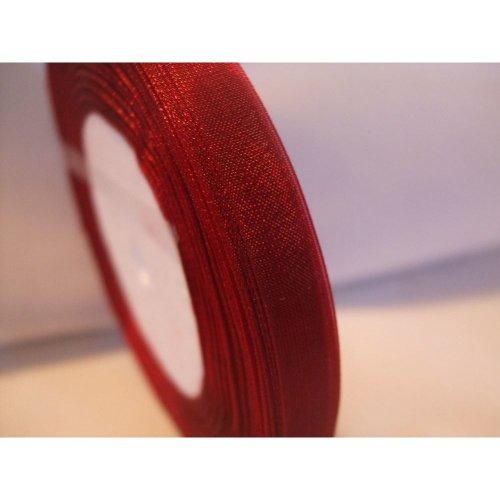 Organza Ribbon Roll - 10mm x 50 Yards (45 Metres) - Old Rose