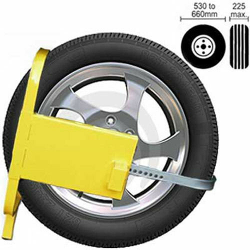 Wheel Lock Caravan Trailers  Car Heavy Duty High Security Anti Theft