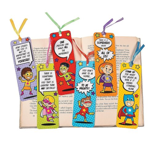 Pack of 12 - Superhero Bookmarks