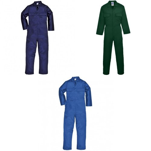 Portwest Mens Euro Work Polycotton Coverall (S999) / Workwear (Pack of 2)