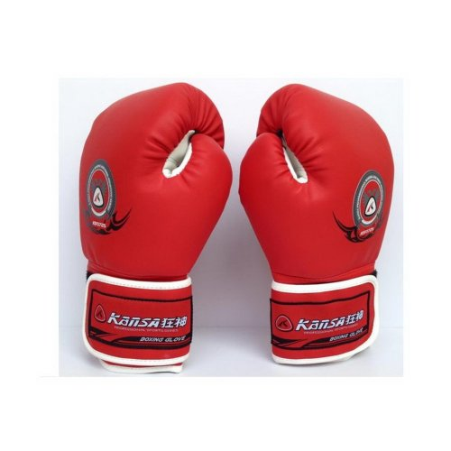 Men's Leatherette Boxing Gloves Red Training Gloves 8-oz
