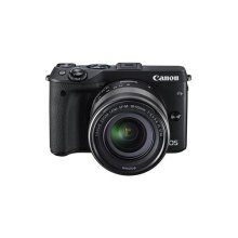 Canon EOS M3 Compact System Camera with EF-M 18 - 55 mm f/3.5-5.6 STM Lens - Black