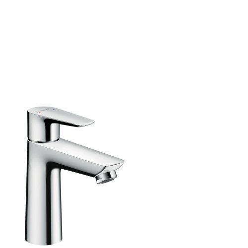 Relativ hansgrohe Talis E basin mixer tap 110 with push open waste, chrome BG28