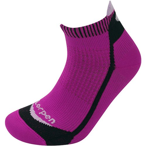 Lorpen Womens T3 Running Mini Socks Berry/Black (Small UK 3.5-5.5)
