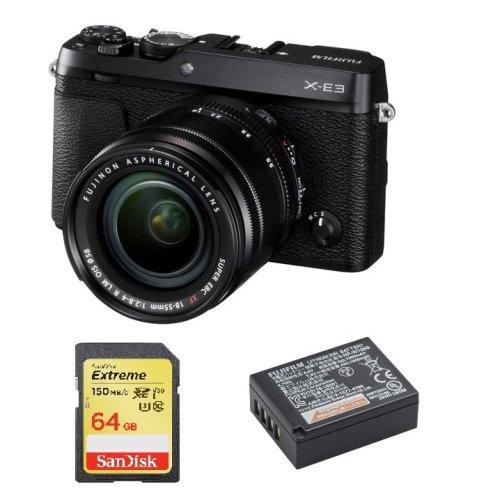 FUJIFILM X-E3+XF 18-55mm F2.8-4 Black+SanDisk Extreme 64G SD+NP-W126S