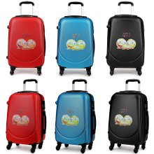 KONO Luggage Suitcase Cabin Travel Trolley Case 4 Wheel Spinner Hard Shell 20 Inch Smile Face