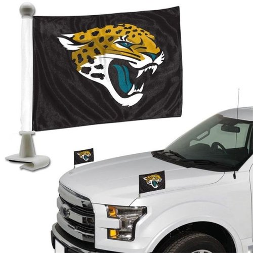 Team ProMark 84836 4 x 6 in. Jacksonville Jaguars Ambassador Car Flag, Set of 2