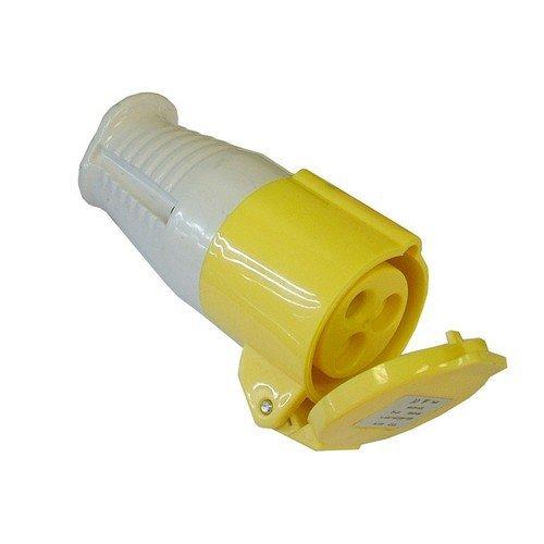 Faithfull FPPCOUP110 Yellow Socket 16 Amp 110 Volt
