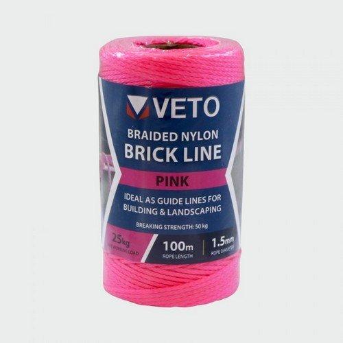 Veto PBL100T Pink Builders Line Tube 1.5mm x 100m