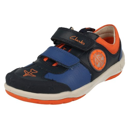 Boys Clarks Casual Shoes Jetsky Buzz - H Fit