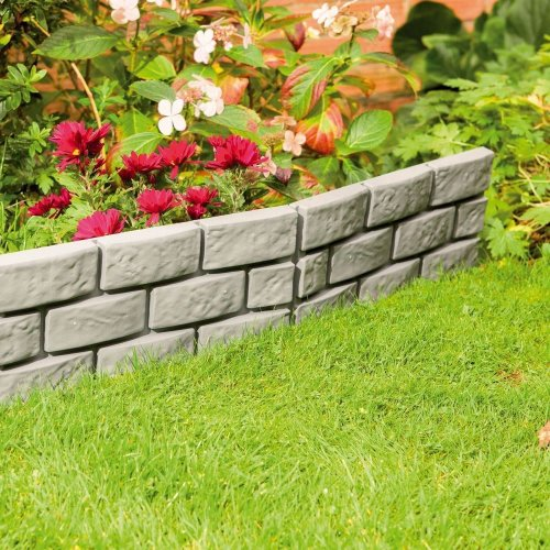8 X Grey Instant Brick Effect Hammer in Garden Lawn Edging Plant Border