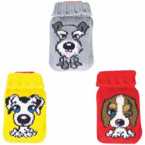 Reusable Heat Packs Assorted Colours Grey/Red/Yellow Dog Image-Active Living