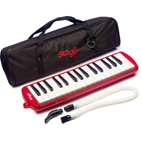 Stagg MELOSTA32RD 32 Note Melodica with Case - Red