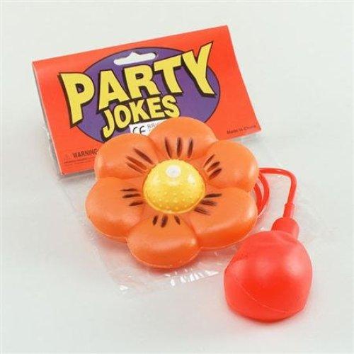 Large Orange Water Squirting Daisy Flower - Clown Squirt Fancy Dress Circus Joke -  flower water clown squirt fancy dress circus joke large daisy