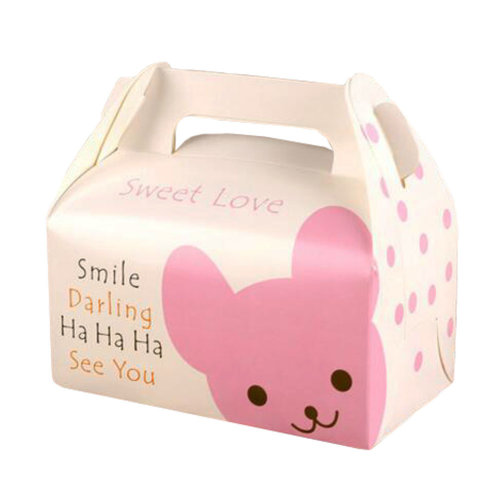 100PCS Cute Boxes With Handle For Pack Candies,Cake,OtherGift,in Party,Birthdays,and other Events,#9