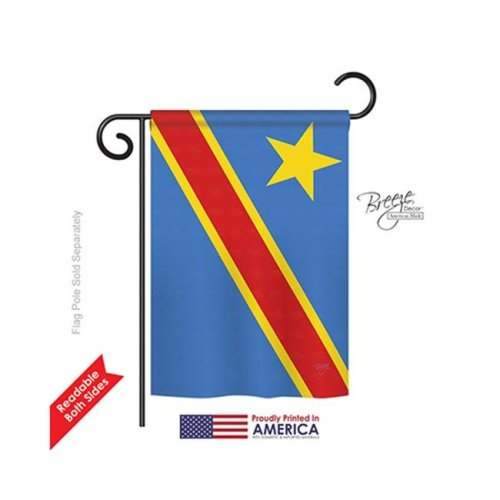 Breeze Decor 58291 DR Congo 2-Sided Impression Garden Flag - 13 x 18.5 in.