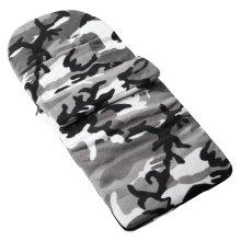 Fleece Footmuff Compatible With Babybus Macylight - Grey Camouflage