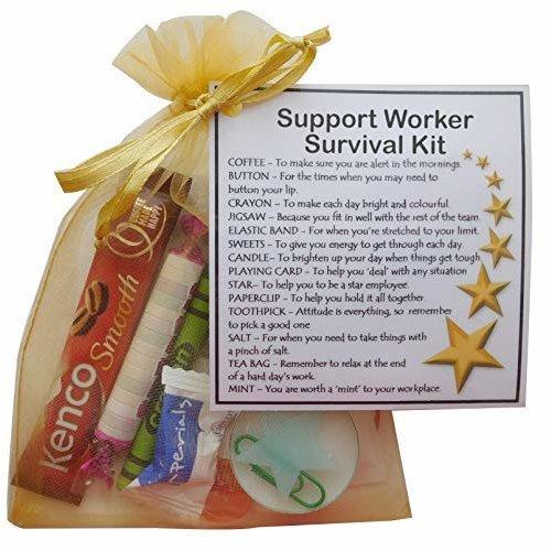 Support Worker Survival Kit Gift - Secret santa gift for Support Worker gift