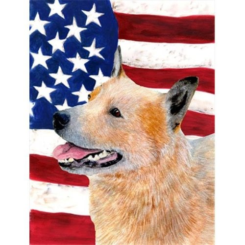 11 x 15 In. Usa American Flag With Australian Cattle Dog Flag, Garden Size