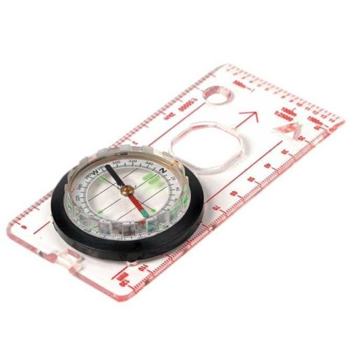 Deluxe Luminous Map Compass -  map compass deluxe highlander hiking walking reading