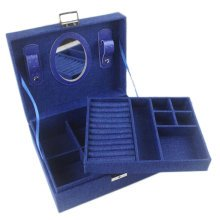 Jewelry Box Necklace Organizer Rings Display Earrings Storage Case-A03