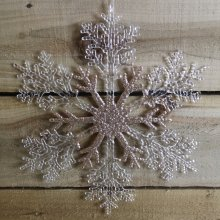 Snow White Foil Ceiling Christmas Decorations Gold /& Red