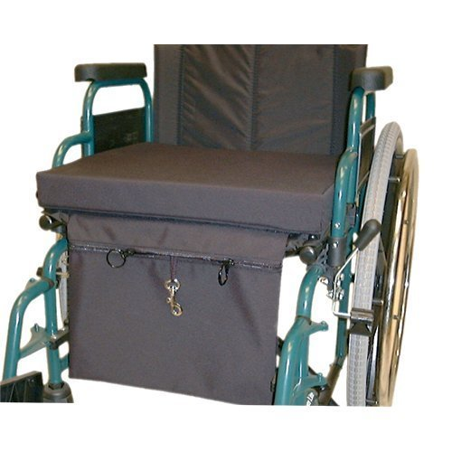 Security Pouch that Fastens to Canvas Wheelchair Cushions via velcro - Underseat