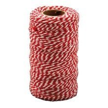 Pbx2471183 - Playbox - Cotton Twine, Red & White, 100 Mtrs X 2mm