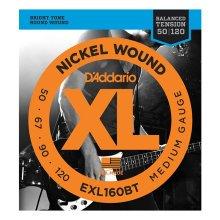 D'Addario EXL160BT Nickel Wound Bass Strings, Bal. Tension, Medium 50-120
