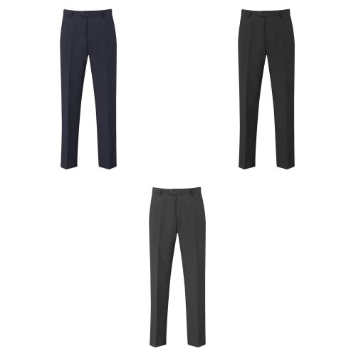 Skopes Mens Darwin Flat Fronted Formal Work/Suit Trousers