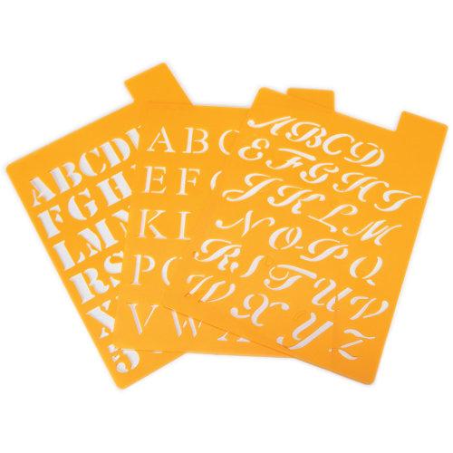 "Alphabet Stencils 1""-Assorted Fonts"