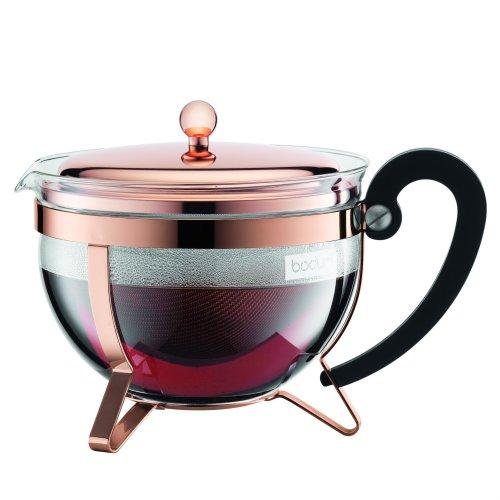 Bodum CHAMBORD Tea Maker (Stainless Steel Filter, Stainless Steel Lid, 1.3 L/44 oz) - Copper
