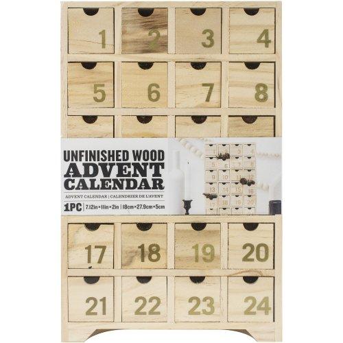 "Wood Advent Calendar-7.12""X11""X2"""