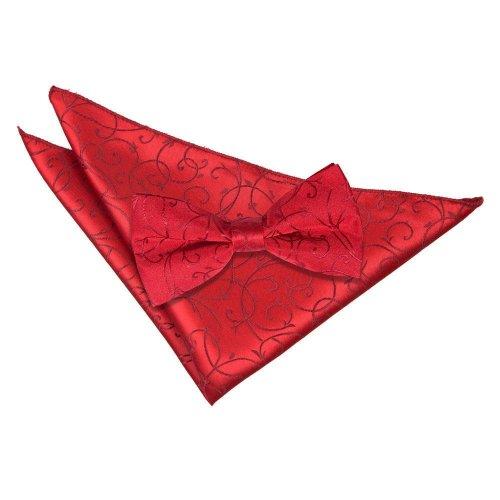 Burgundy Swirl Bow Tie & Pocket Square Set