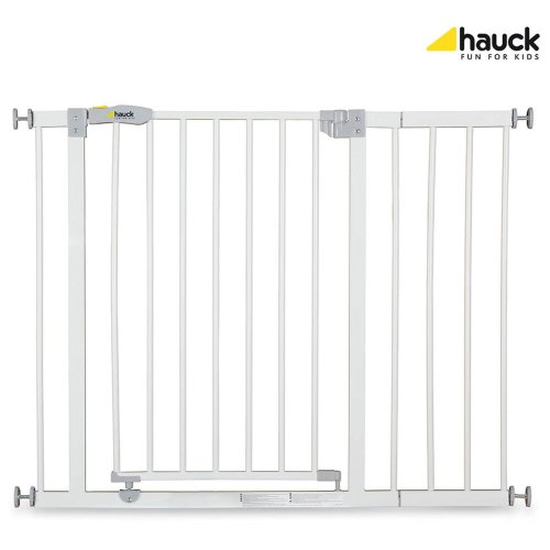 Hauck Open N Stop Safety Gate + 21cm Extension - White