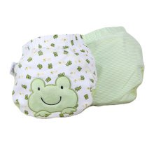 Lovely Green Frog Pattern Baby Elastic Cloth Diaper Cover (M, 9-11KG)