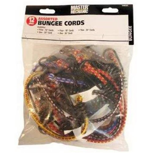 Assorted Bungee Cords - Pack of 12
