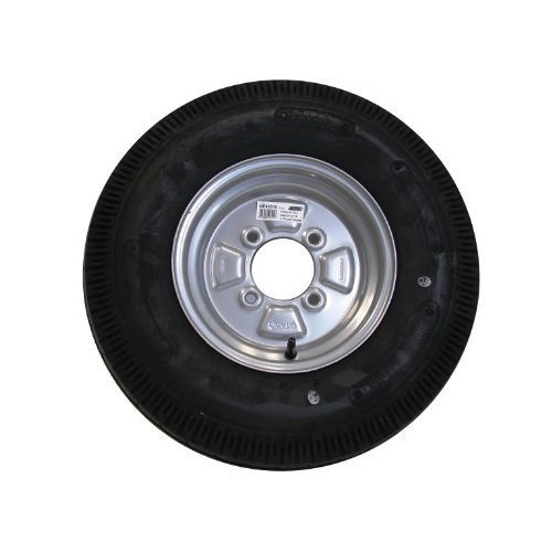 "Wheel&tyre 500x10"" 4ply 4stud 115mm Pcd 355kg Silver - Wheeltyre 500x10 Cap -  wheeltyre 500x10 4ply cap 355kg silver trailer 500mm 42510 maypole"