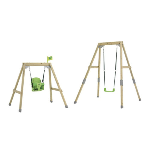 TP Toys Acorn Growable Wooden Swing Set Foldaway and Standard Swing Seat Build Frame From Low To Full Height Ages 6 Months-10 Years