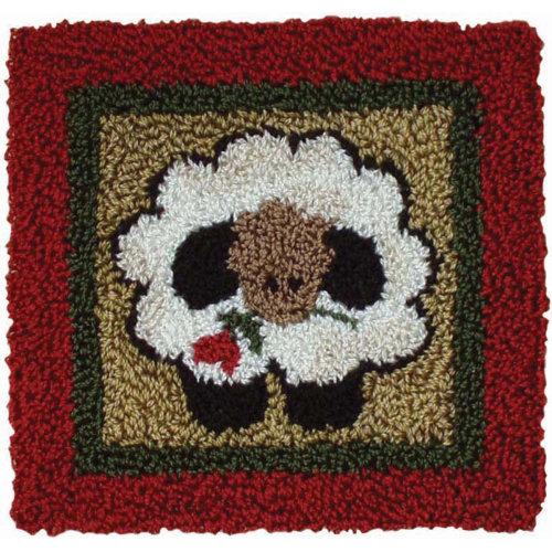 """Round Sheep Punch Needle Kit-3.25""""X3.25"""""""