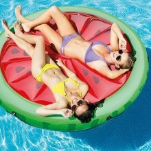Intex 56283 Watermellon Island Inflatable Round Mattress for the Pool or Beach