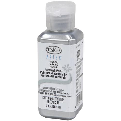 Aztek Airbrushable Pearl Acrylic Paint 2oz-Silver